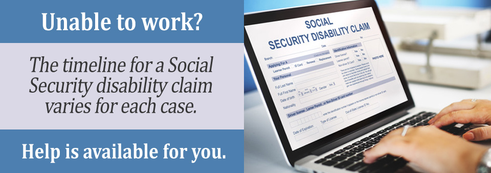 What is the Timeline for my Social Security Disability Claim?